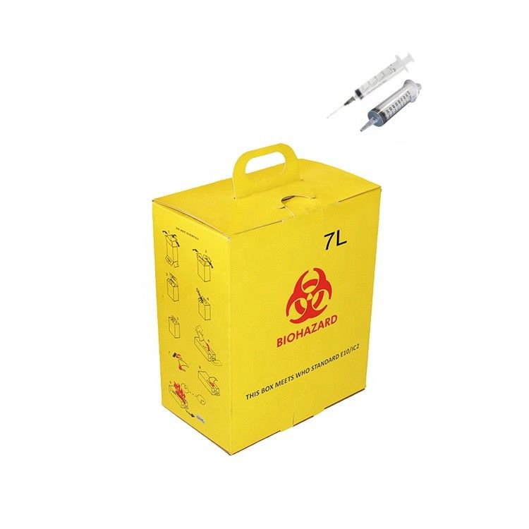 7L Corrugated paper Hospital Disposal Syringe Needle Sharp Container Medica safety box​