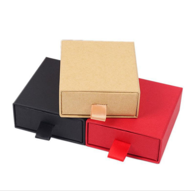 Portable Corrugated Paper Box Fashion Classic Style For Jewelry Gift