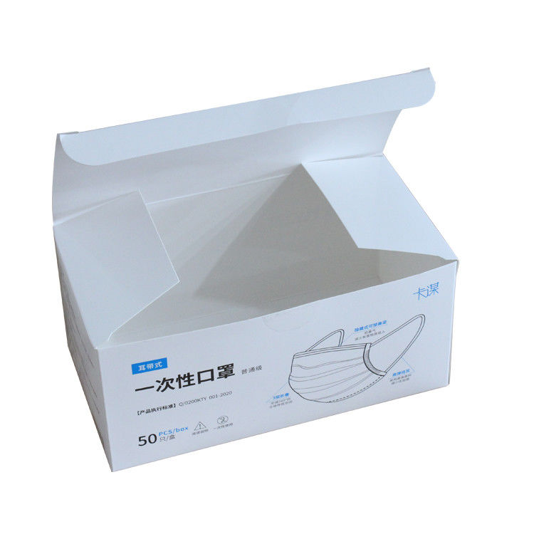 Glossy Lamination KN95 Recycled Packaging Boxes