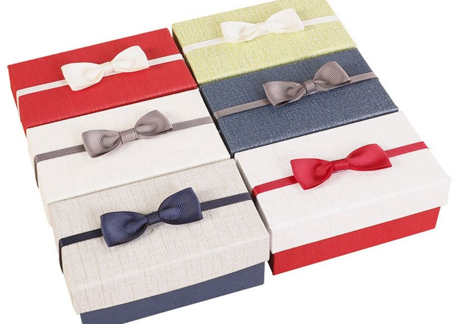 Cosmetic / Perfume Corrugated Paper Box Handmade With Bow Decoration
