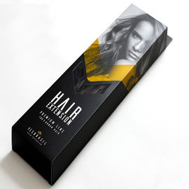 Foldable Custom Hair Extension Boxes , OEM Service Luxy Hair Packaging