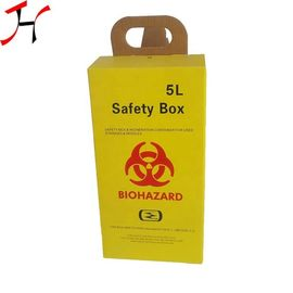 Recyclable Paper Medical Sharps Box Safety Boxes 58X28X50 Cm Single Package Size