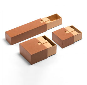 Handmade Kraft Cardboard Luxury Paper Gift Box For Cosmetic / Perfume