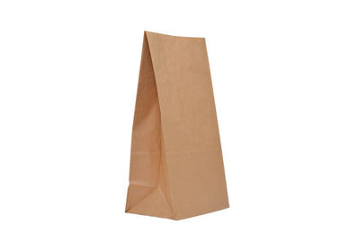 Customized Color Recycled Paper Food Bags For Frozen Food / Picnic / Grocery