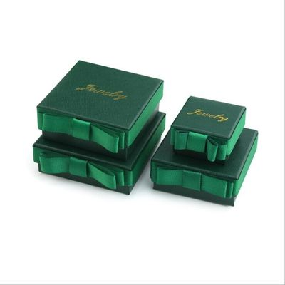 Customized wholesale gift box jewelry packaging box with ribbon inner support