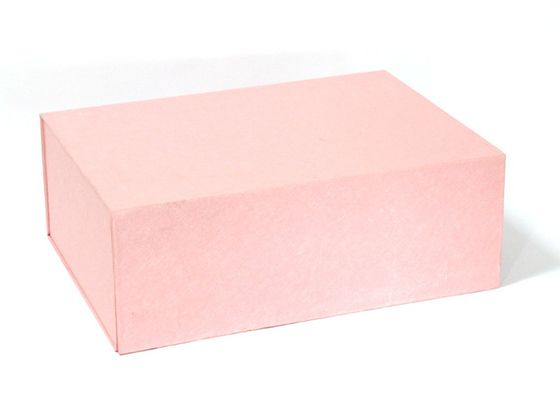Recycled Paper Gift Boxes Rectangle pink box foldable gift box packaging box